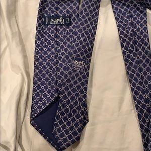 Hermes Accessories - Men's Hermès Paris blue white tie authentic silk